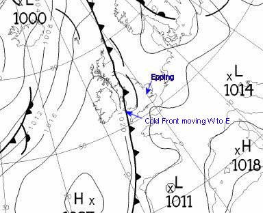 Weather chart for 1200GMT 10/08/2003